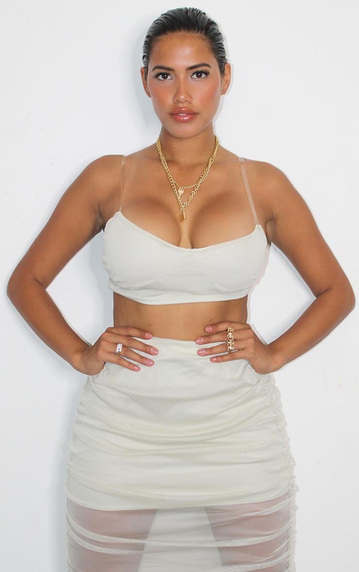 Shape Sage Green Mesh Midaxi Skirt