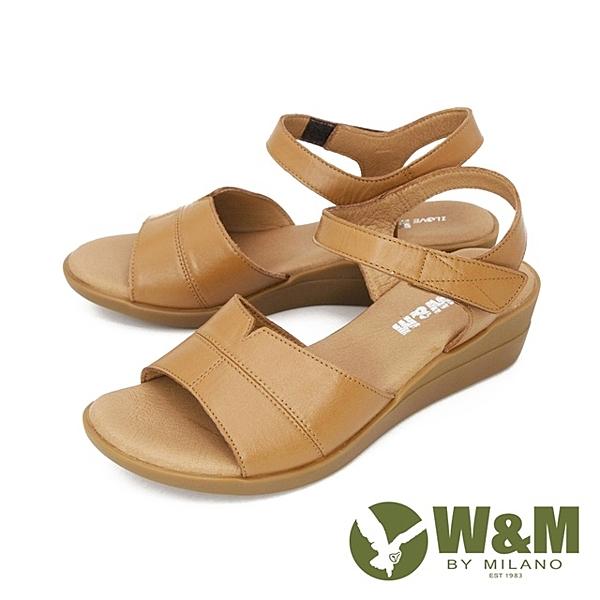 W&M(女) 寬帶楔型彈力涼鞋 女鞋 -棕(另有黑)