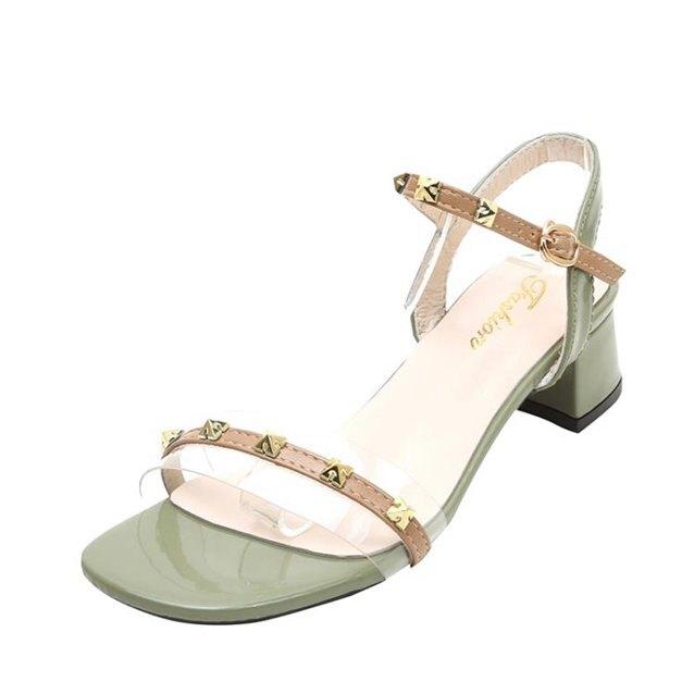 涼鞋透明涼鞋女夏季配裙子穿的鞋新款百搭晚晚風溫柔鞋仙女羅馬鞋  秋冬新品特惠