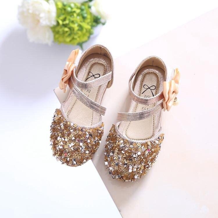 女童涼鞋 公主鞋兒童單鞋2019春夏新款韓版亮片女童鞋寶寶鞋半涼鞋