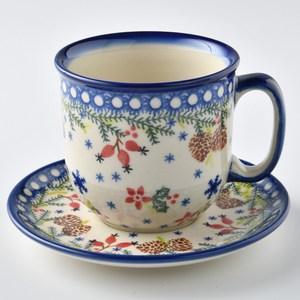波蘭陶 初春遊樂園系列 咖啡杯盤組 250ml 波蘭手工製