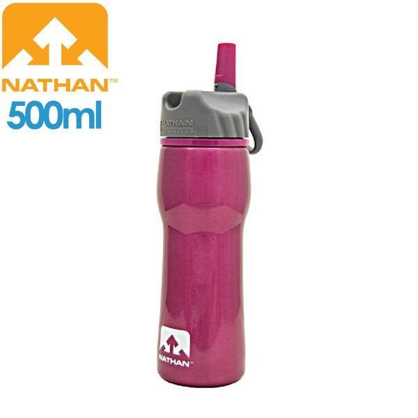 [現貨]NATHAN 美國 不鏽鋼水壺500 桃紅/NA4201N/不鏽鋼/大瓶口/輕巧便利