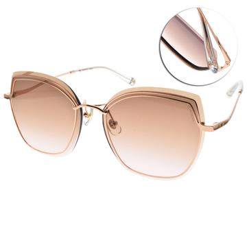 SEROVA太陽眼鏡 俐落線條貓眼款  (玫瑰金-漸層棕粉鏡片)#SS9053 C15
