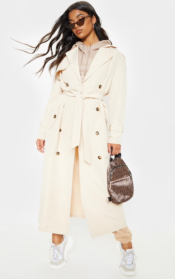 Stone Oversized Trench Coat