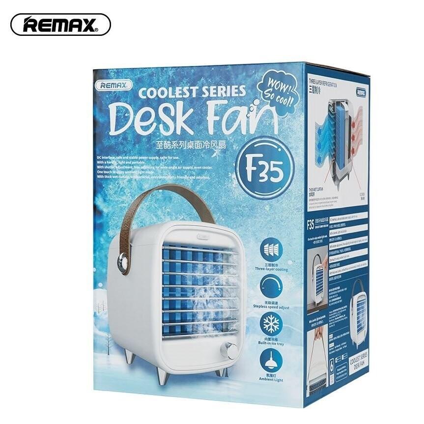 remax 至酷桌面水冷風扇f35創意百葉窗辦公室usb小型冷風機/水冷扇