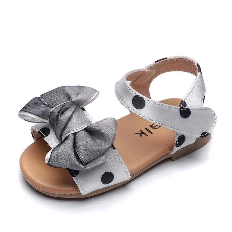 女童涼鞋 女童涼鞋牛筋底新款夏季軟底時尚2-3歲蝴蝶結小童寶寶公主鞋