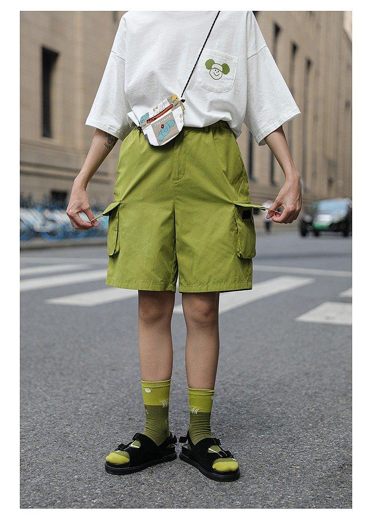odd maker 夏季百搭口袋日系工裝短褲