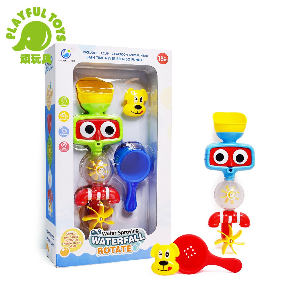 【Playful Toys 頑玩具】噴水轉轉樂 (兒童洗澡 浴室戲水花灑 寶寶泡澡 嬰幼兒沐浴 親子互動)