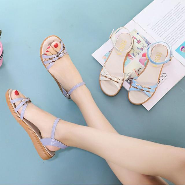 【韓國K.W.】Y4712 獨家價好評加碼羅馬美腿涼鞋