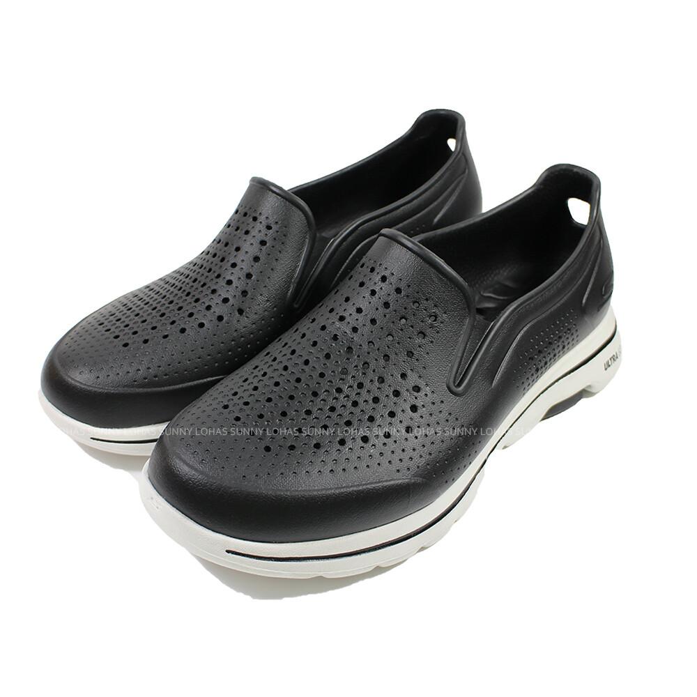 (b6)skechers 男鞋gowalk 5雨鞋健走鞋 cali gear防水鞋243000bkw