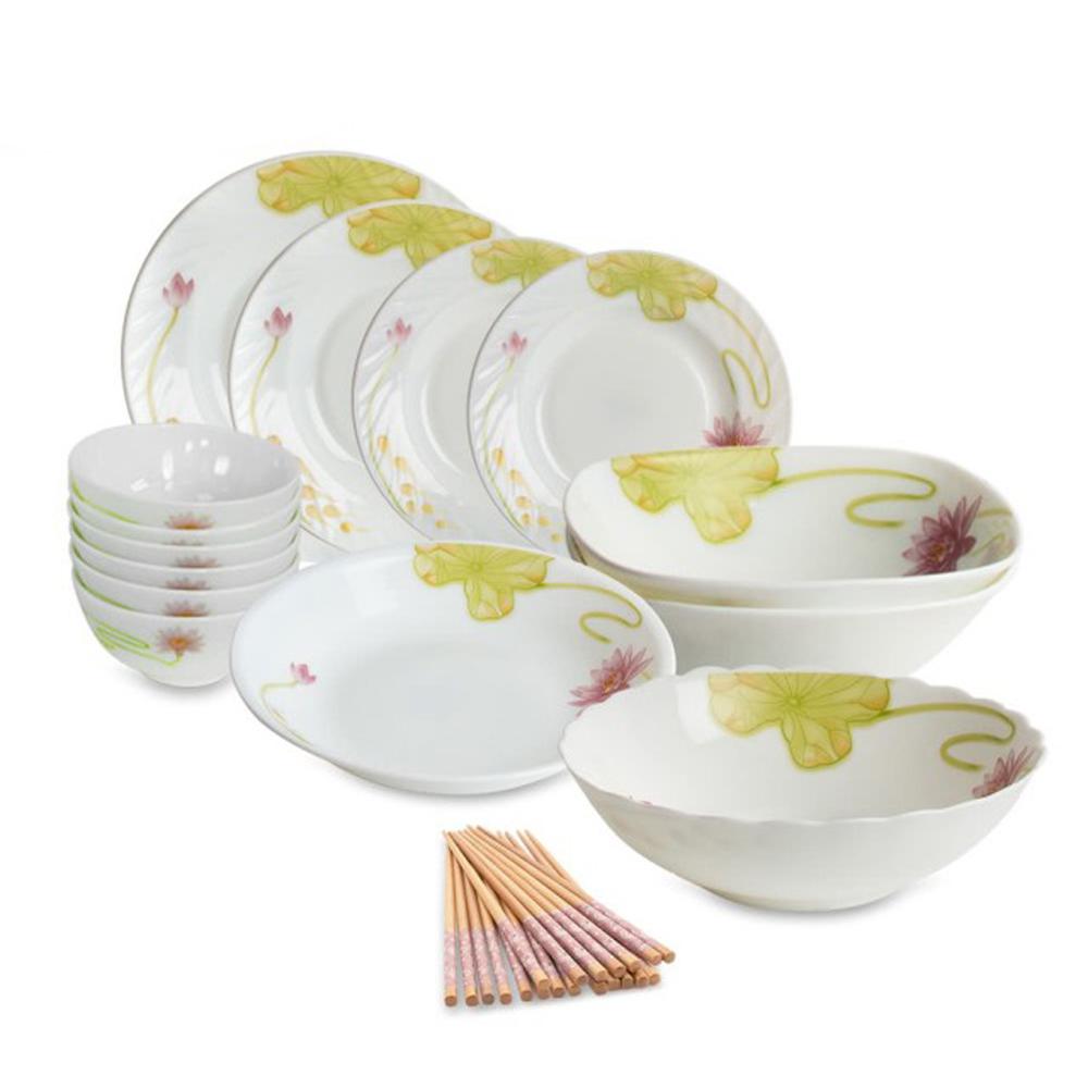 【CookPower 鍋寶】幸福居家強化玻璃餐具24件組(EO-SB69Z284Z295913RP)
