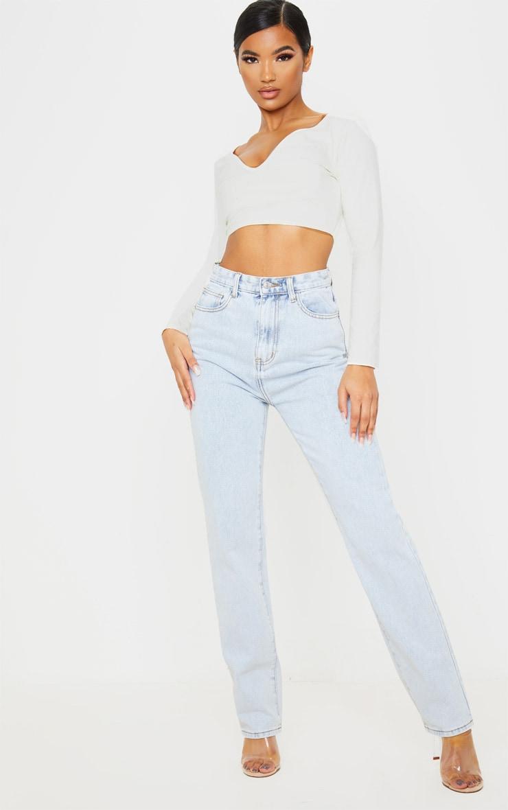 Light Wash Long Leg Straight Jeans