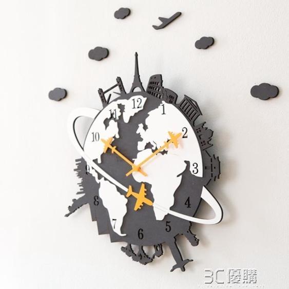 【免運】北歐掛鐘客廳創意美式個性掛錶現代靜音時鐘家用石英鐘錶HM 3C優購 喜迎新春 全館8.5折起