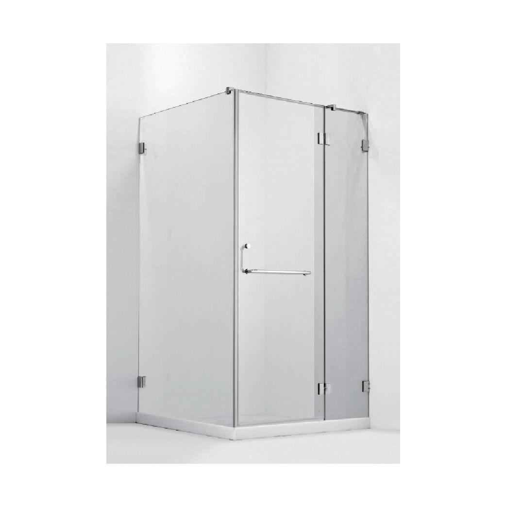 【哇哇蛙-乾濕分離】➤ itai一太  無框淋浴拉門皇冠 5027 銅鍍鉻款五年保固 ➤單開門|80x200cm
