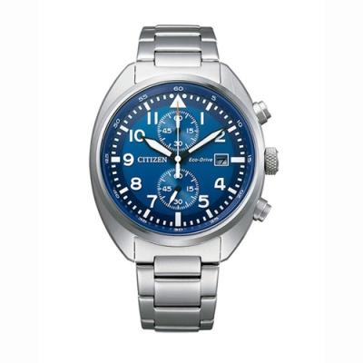 CITIZEN 星辰 Chronograph光動能計時三眼手錶-藍色41mm(CA7040-85L)