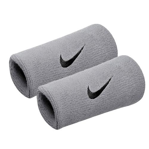 Nike Swoosh [NNN05078OS] 加長 護腕 腕帶 運動 打球 健身 吸濕 排汗 乾爽 彈性 灰