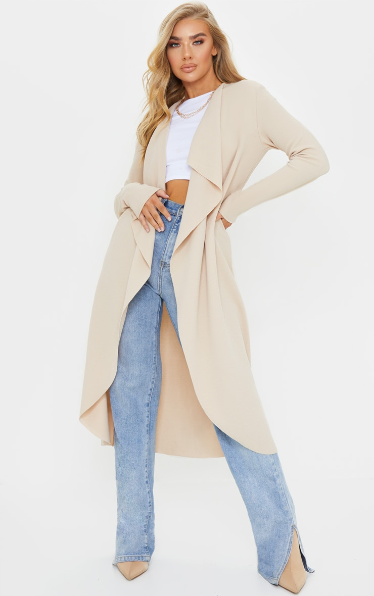 Stone Waterfall Maxi Duster Jacket