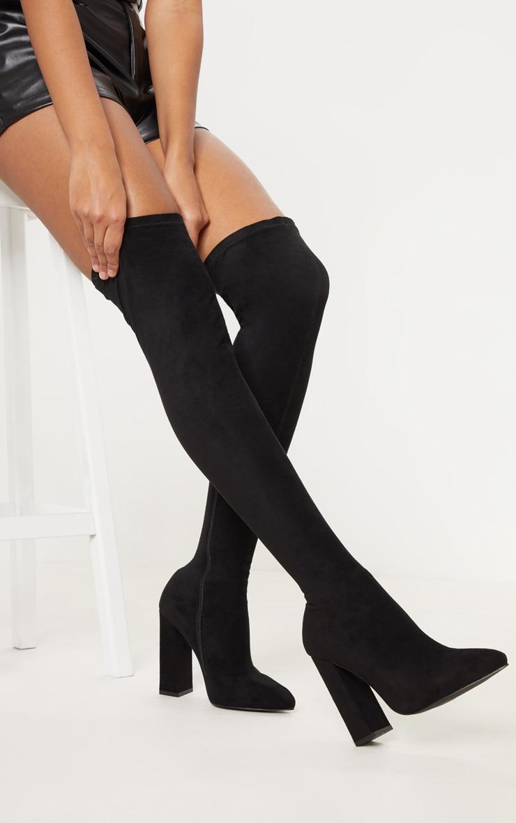 Black Point Block Heel Over The Knee Boot