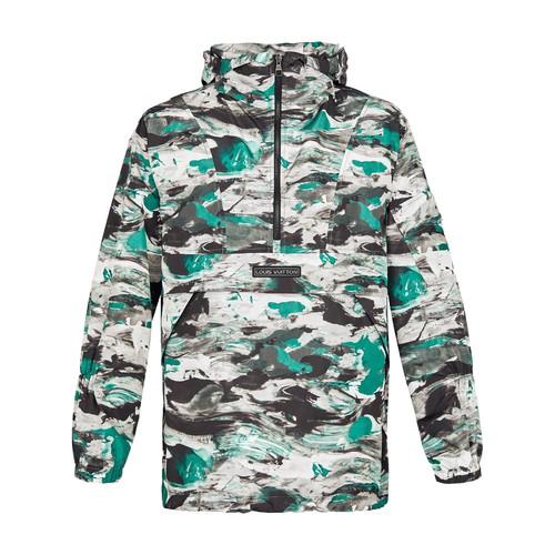 Surface Planet Print Hooded Safari Jacket