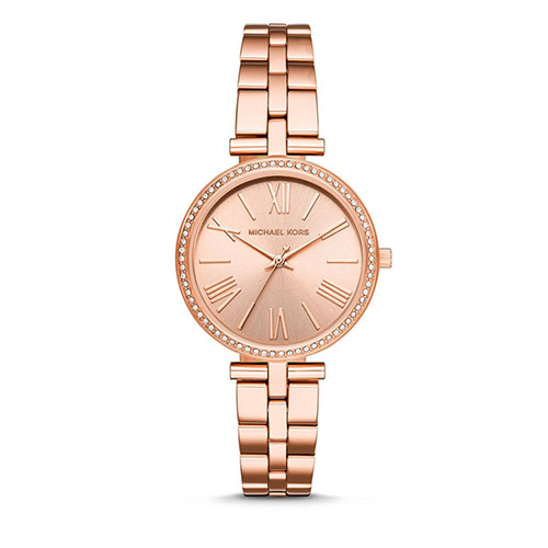 Michael Kors  璀璨晶鑽不鏽鋼腕錶-玫瑰金