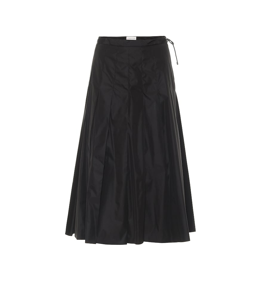 High-rise midi skirt