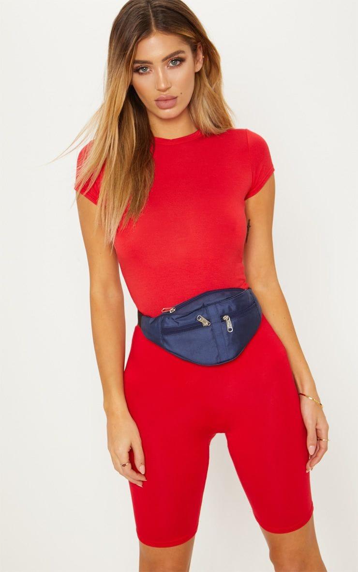Red Basic Bike Shorts