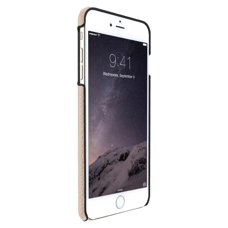 Quattro™ Back  iPhone 6 Plus /6S Plus 經典真皮背蓋(限量獨家加贈自我修復保護貼 ) 棕色加送修復保護貼白色一張 LC-169BG+SP-199WH