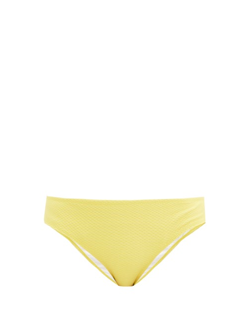 Heidi Klein - Cancun Honeycomb-effect Bikini Briefs - Womens - Yellow