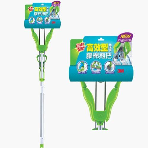 3M W3 / W3+ 百利免沾手快潔吸水膠棉拖把(綠)( W3+ 百利免沾手快潔吸水膠棉拖把(綠)