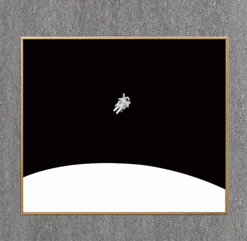 原創抽象裝飾畫-【空中的】-本間原創-簡約
