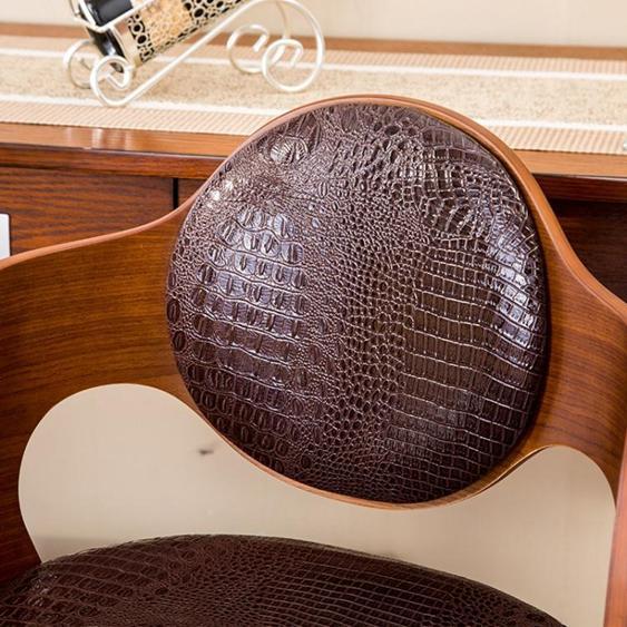 科潤吧椅實木吧臺 臺椅酒吧椅子升降吧凳前臺 臺桌椅美式復古高腳凳子 夏洛特居家名品
