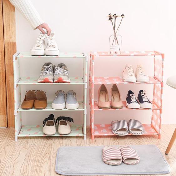 鞋架簡易家用組裝經濟型宿舍寢室鞋架收納布藝防塵鞋柜櫃多層鞋架子 夏洛特居家名品