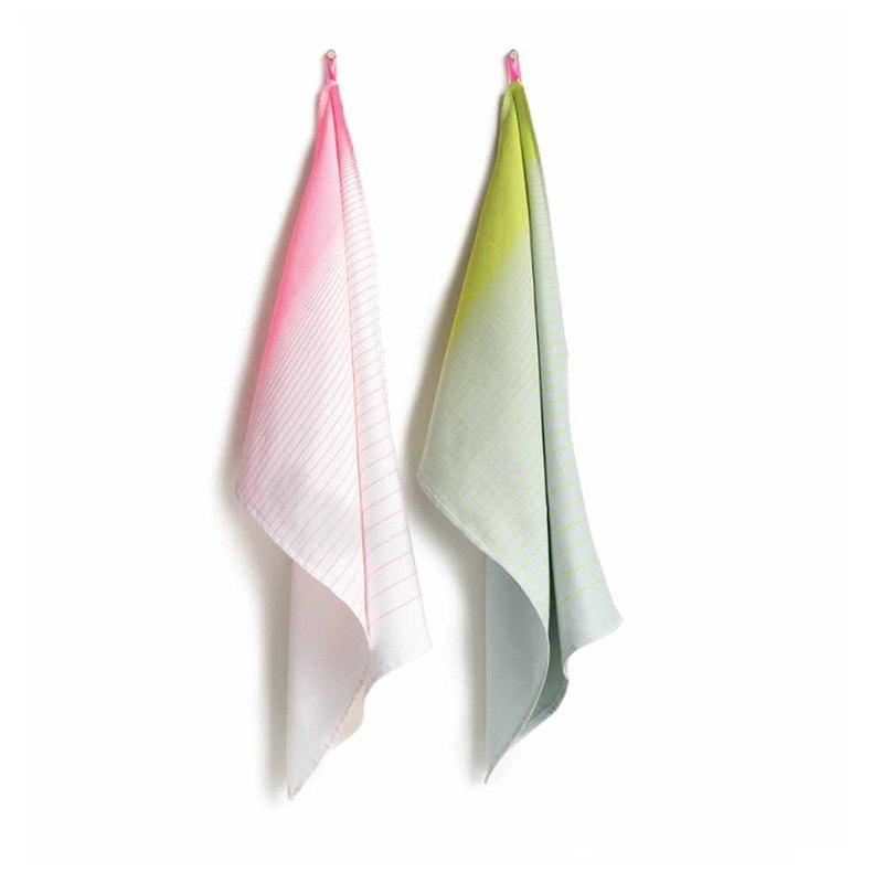 S&B Tea Towels 廚房方巾系列 漸層粉\黃