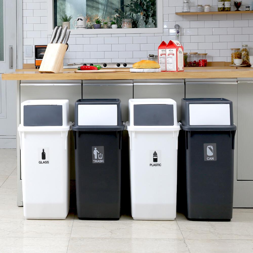 極簡前開式60l收納筒/垃圾桶/回收筒/收納箱/2色/g0022