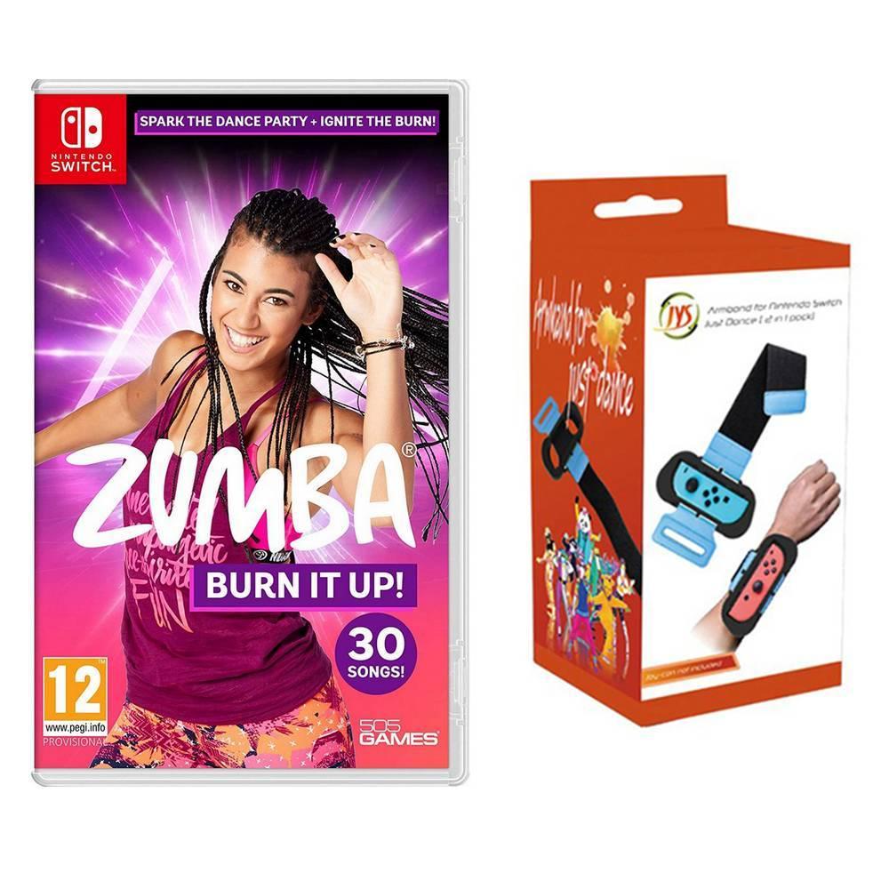 Nintendo Switch Zumba:Burn It Up! +體感跳舞防丟防掉手腕手臂帶