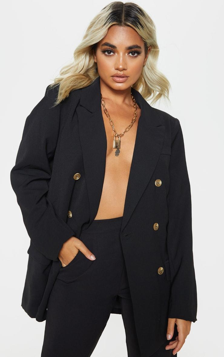 Petite Black Oversized Tailored Blazer