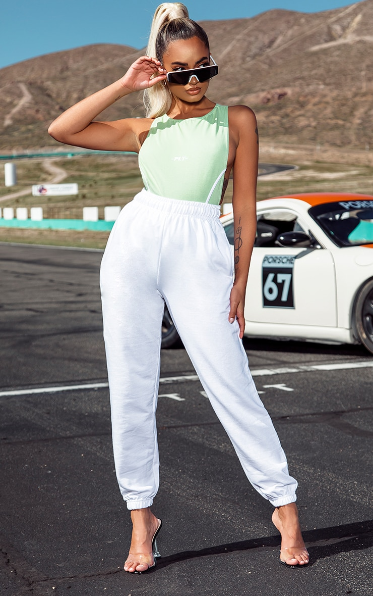 Petite White Casual Track Pants