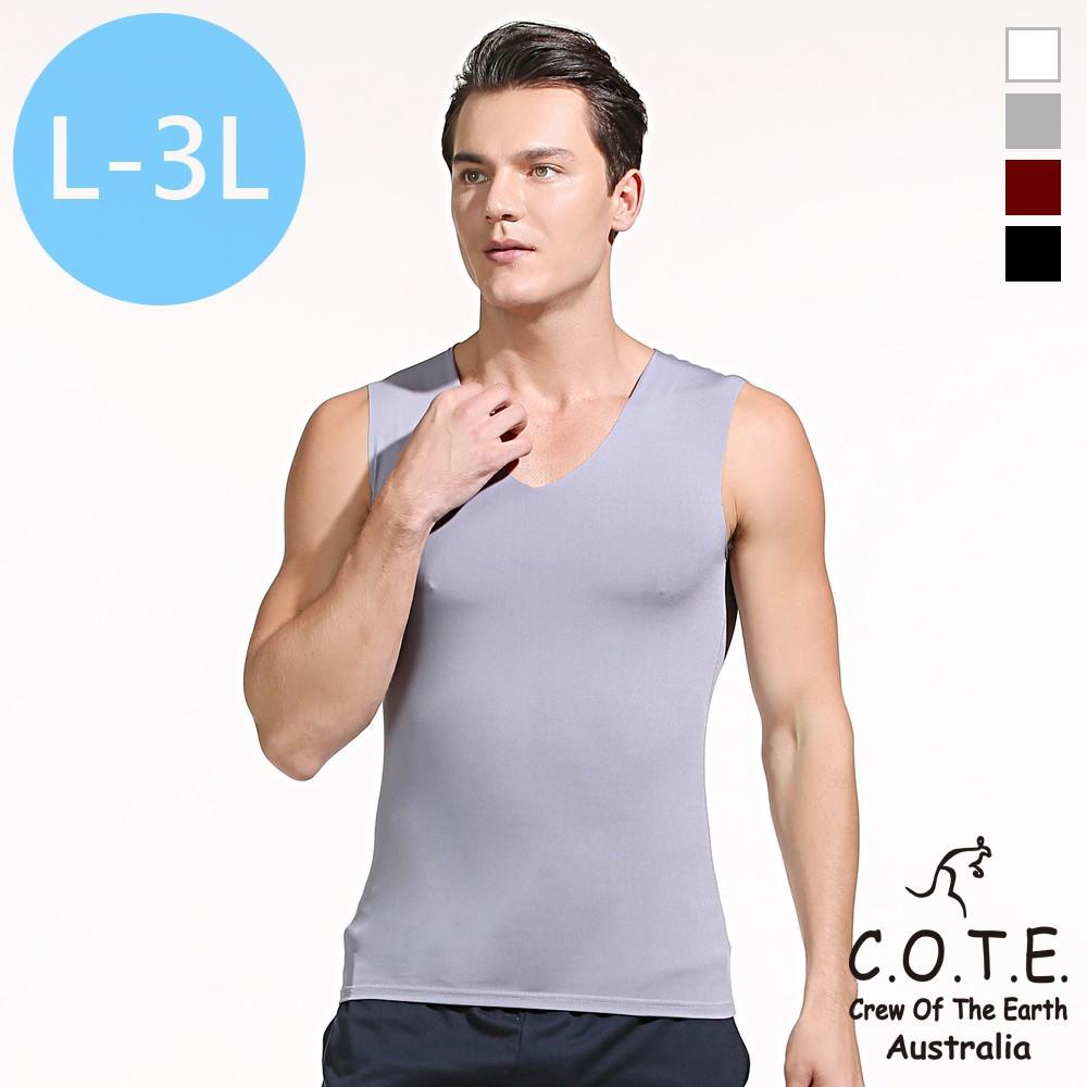 COTE 涼感系不修邊超彈力快速排汗透氣親膚居家睡衣內衣背心 廠商直送 現貨