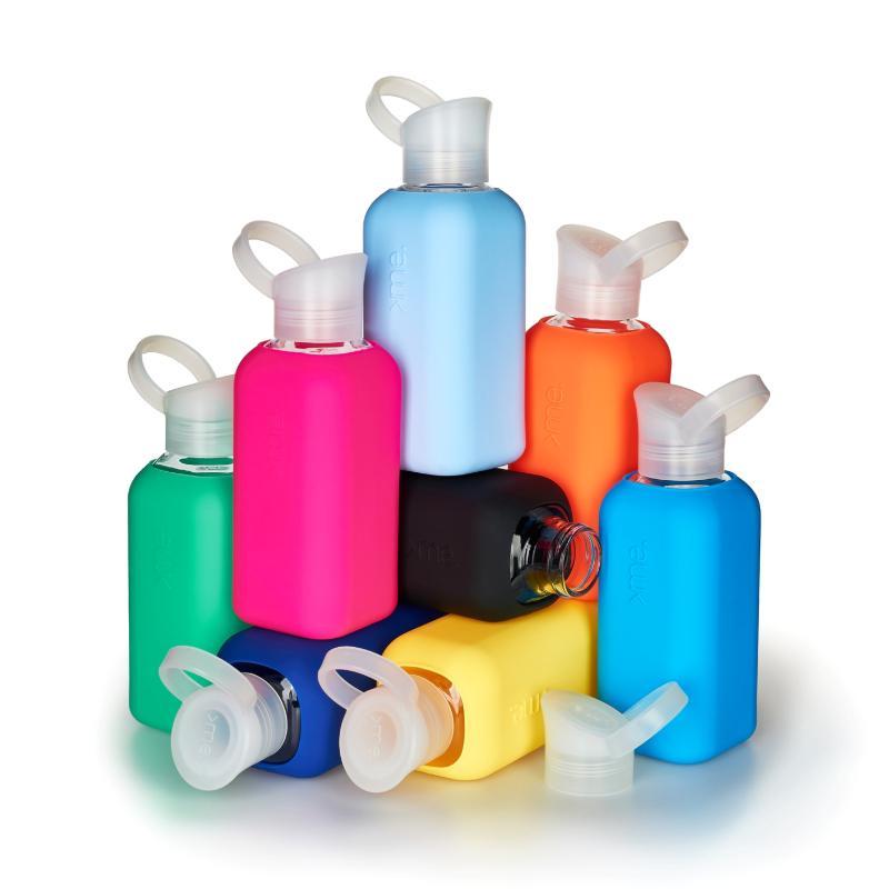 果凍瓶 500ml 二入 (8種組合) 蜜桃紅+霓虹藍