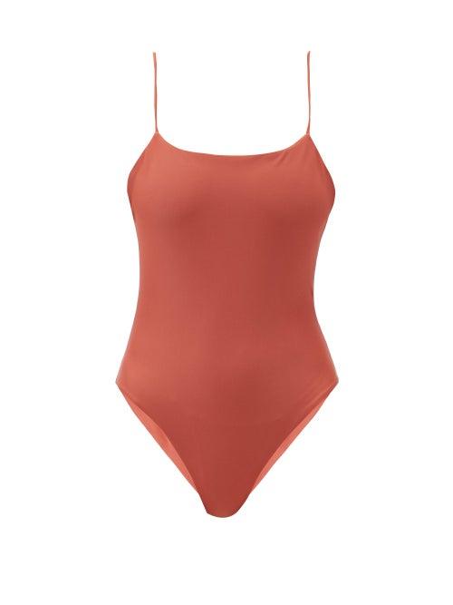 Jade Swim - Trophy Scoop-back Swimsuit - Womens - Dark Red