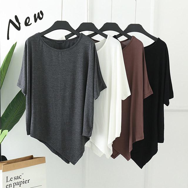 莫代爾寬鬆蝙蝠袖造型T恤