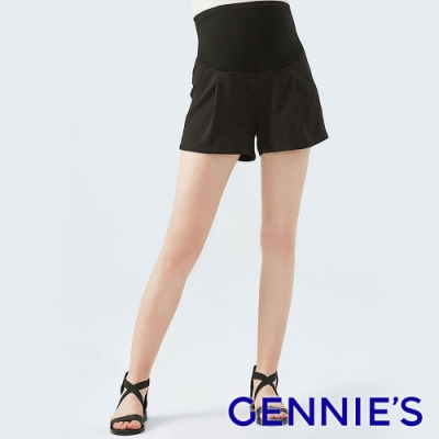 Gennies奇妮-無縫修身孕婦短褲-黑(T4F16)