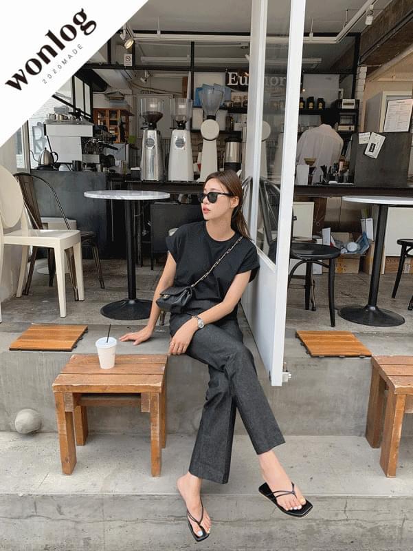 韓國空運 - Hidden Roll Up T-shirt 短袖上衣