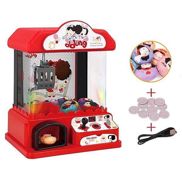 【888便利購】高仿真聲光迷你夾娃娃機(單搖桿60秒倒數)(USB充電版)