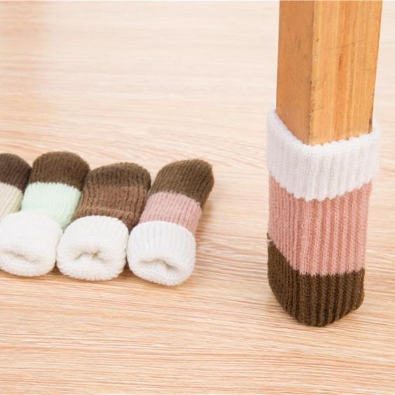 24只 椅子腳套保護套實木地板加厚耐磨防滑靜音凳子腳套桌椅