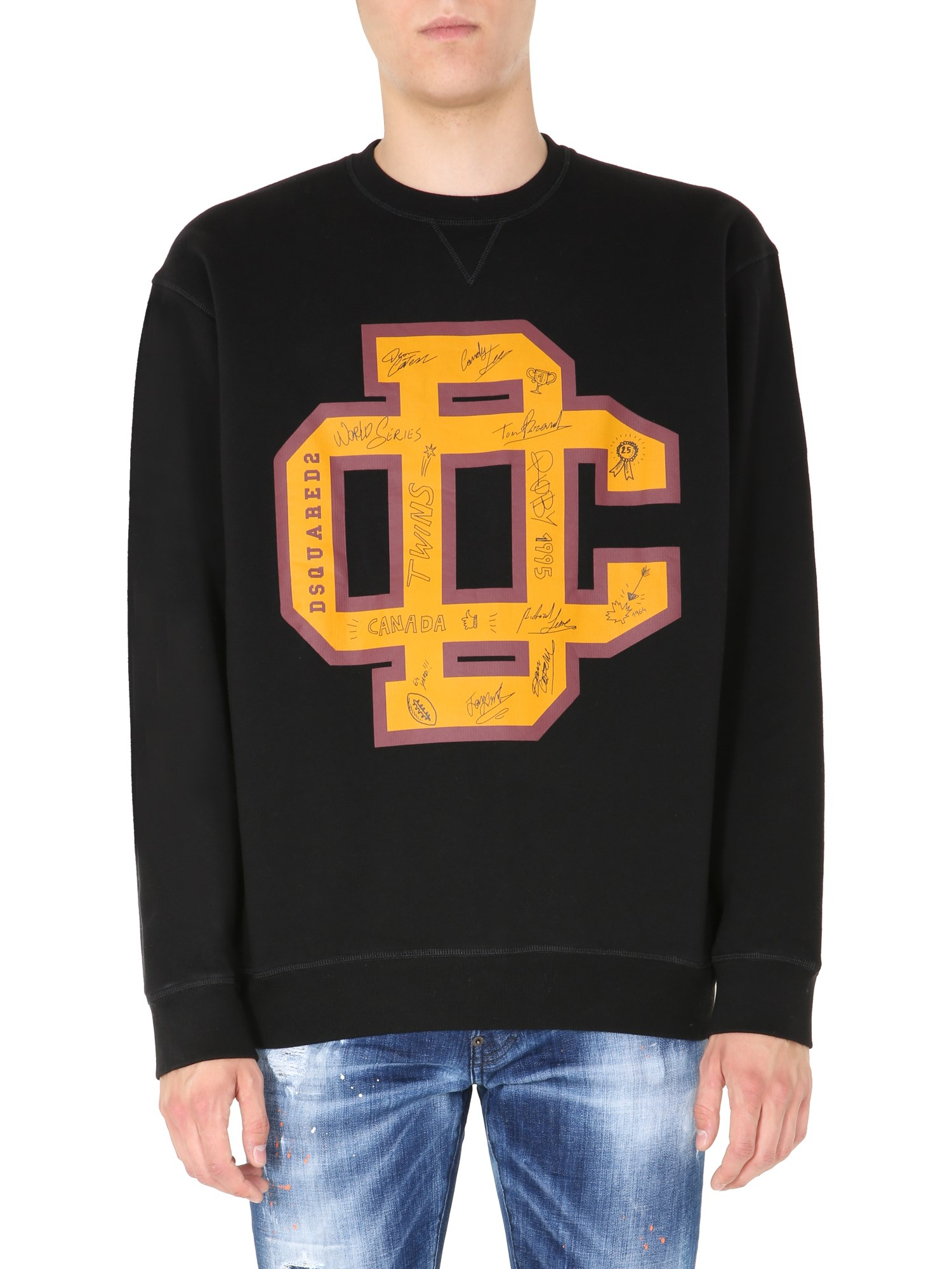 dsquared college fit sweatshirt