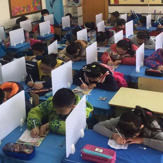學生課桌考試擋板隔斷專用擋板辦公桌面屏風擋板書桌隔板桌子配件