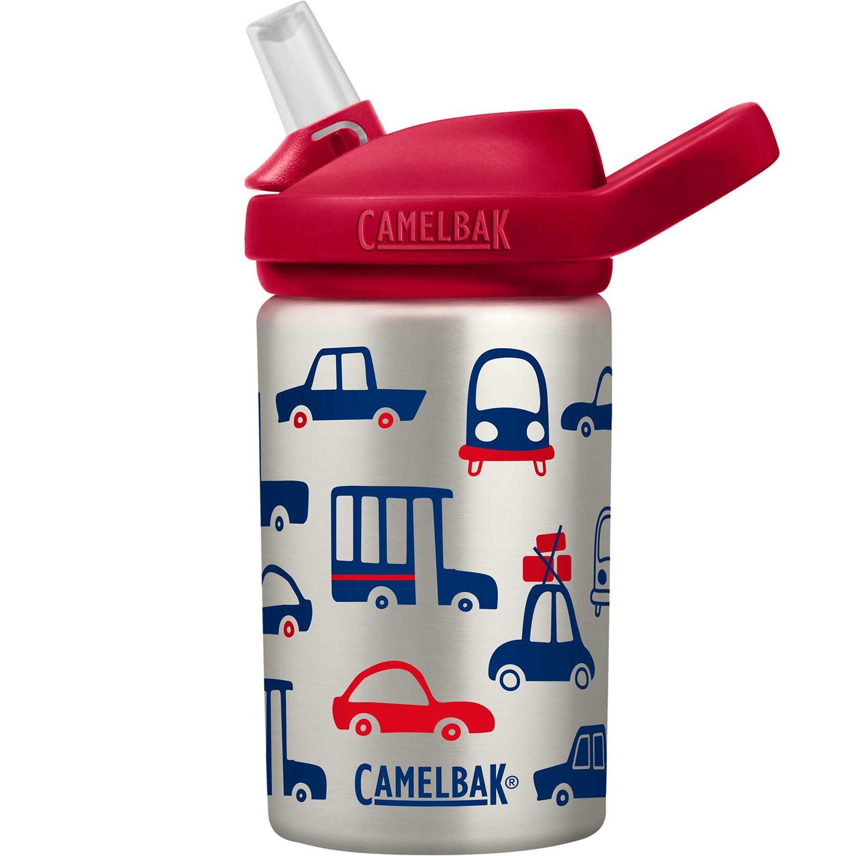 CamelBak - EDDY+ 兒童吸管不鏽鋼水瓶-車車集合 (400ml)-330g