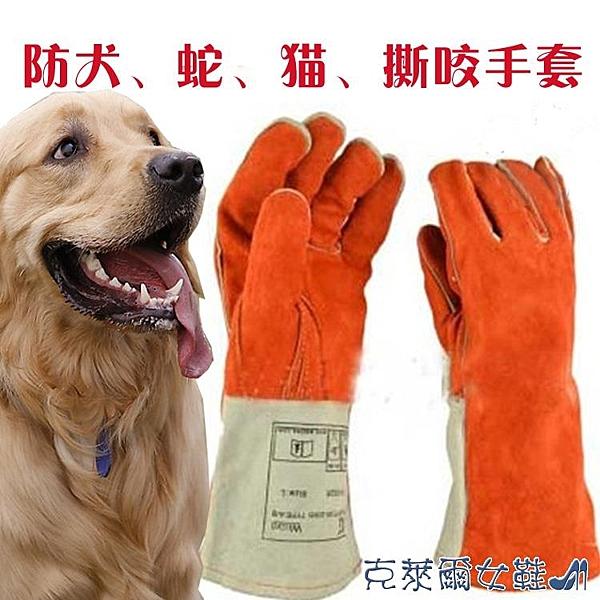 防咬手套 防咬手套狗狗訓狗訓犬抓松鼠刺猬抓養寵物防動物咬傷防護加厚加長 快速出貨
