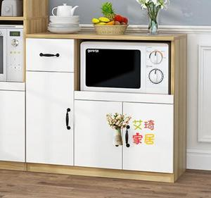 微波爐櫃 餐邊櫃現代簡約 餐廳櫃子茶水櫃多功能微波爐廚房置物儲物櫃T 4色